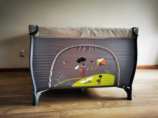 Kojec dla dzieci, łóżeczko turystyczne duże , kolor szary