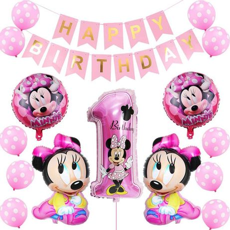 Kit decoração festa aniversário Minnie - portes grátis