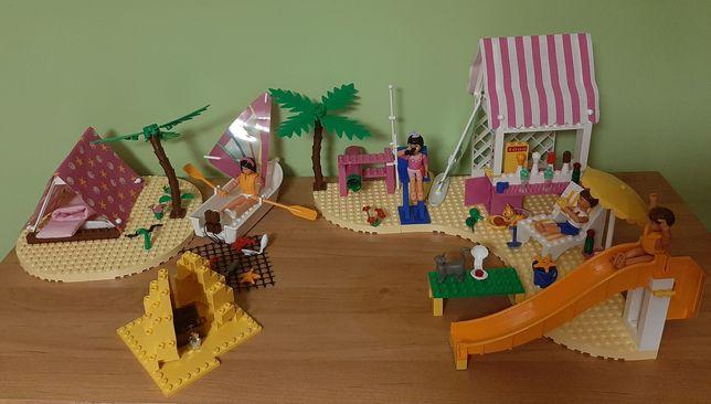 Duży zestaw LEGO Raj surferów plus dodatki