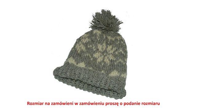 czapka z owczej welny