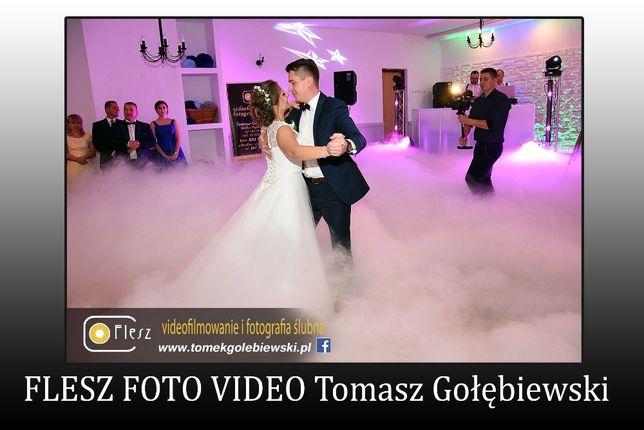 FLESZ Taniec w chmurach, ciężki dym, generator prezent dla Młodej Pary