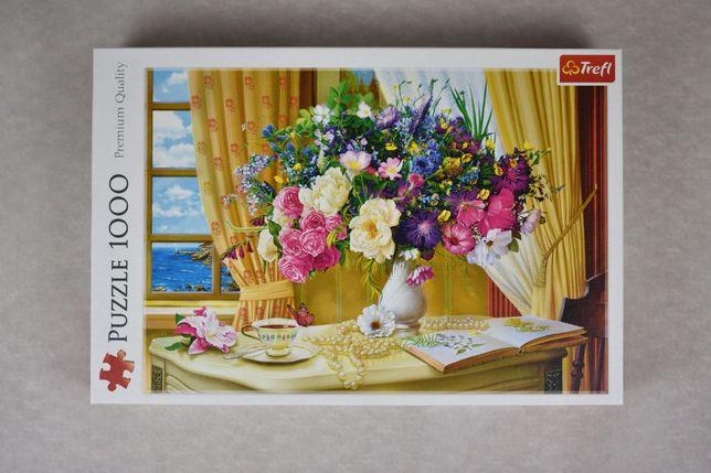 Puzzle 1000 Kwiaty w wazonie