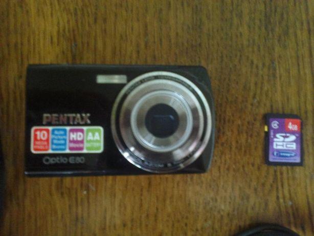 Продам цифровой фотоаппарат Pentax Optio E80 Black + много подарков!