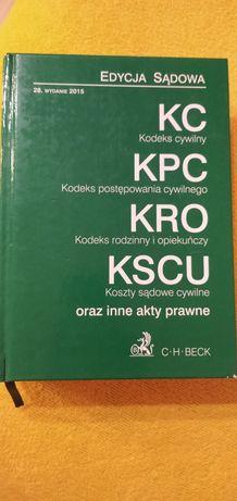 Kodeks cywilny, kpc, kro, kscu Edycja sądowa