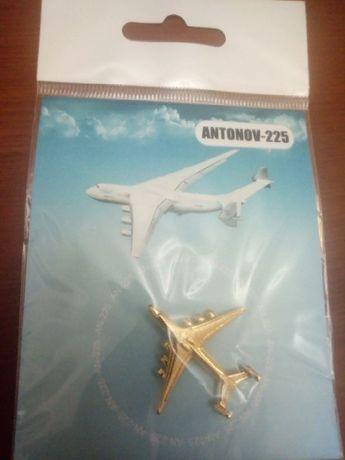 подарочный VIP знак значок оригинальный Ан-225 «Мрия» позолота 24 кар