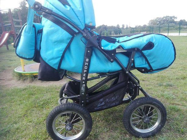 Nowy wózek dziecięcy marki Shoper 2 w1+nosidełko