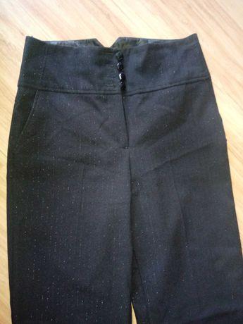 Eleganckie czarne spodnie f&f long