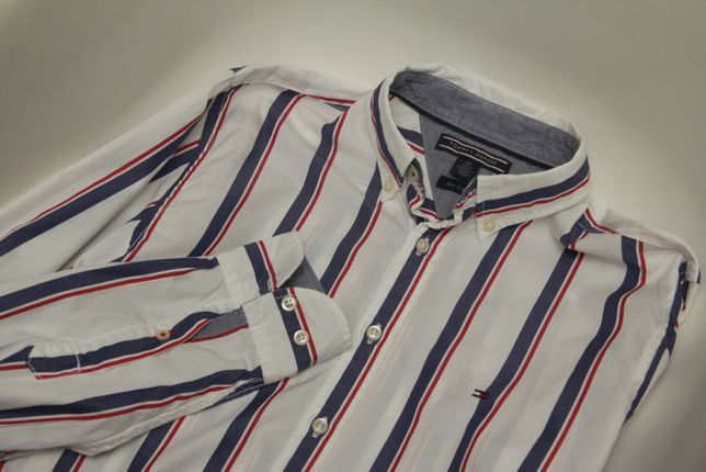 Tommy Hilfiger рр S new York Fit рубашка из хлопка 2-ply