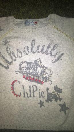 Свитер для девочки,свитерок тонкий Chipie на 2-3 года