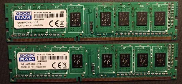 Продам память ОЗУ GoodRam DDR3 2gb 1600MHz PC3-12800 DIMM - 2 планки