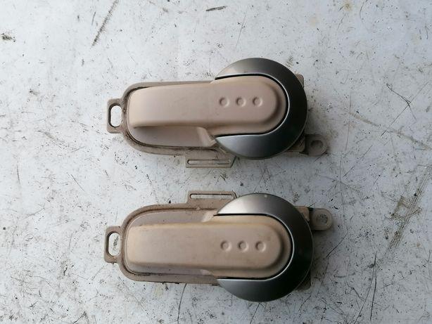 Klamka wewnętrzna lewa prawa Nissan Micra k12 brąz beż