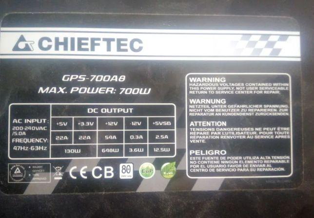 700w Чифтек, am3+ asus+4x cpu+geforce 1060+4gb ddr3+500gb hdd sata+160