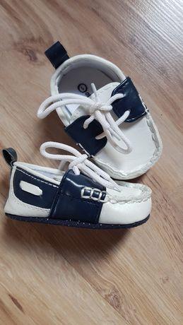 Coccodrillo buciki dla chłopca, eleganckie, chrzest rozmiar 1, 10cm.