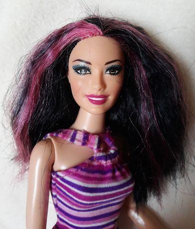 lalka barbie Raquelle pasemka różowe artykułowana zginane