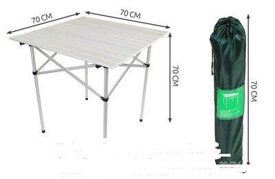 Стол складной алюминиевый 70х70 с ЧЕХОЛ новий столик стіл новий