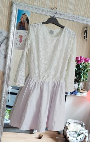 Белое платье на роспись, нарядное платье, платье на новый год