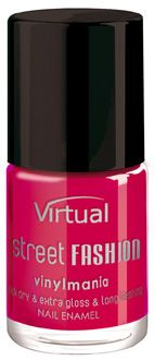 VIRTUAL Street fashion lakier do paznokci 81 first love 10ml malinowy
