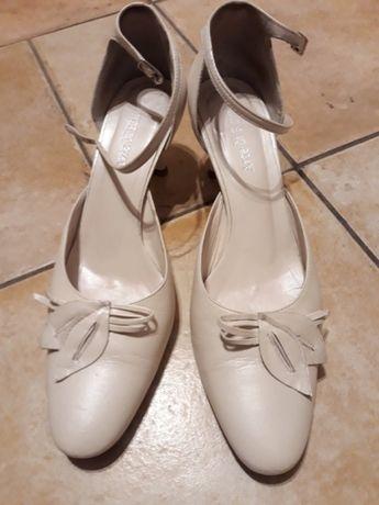 Buty czółenka ślubne Arte di Roma skóra r. 38