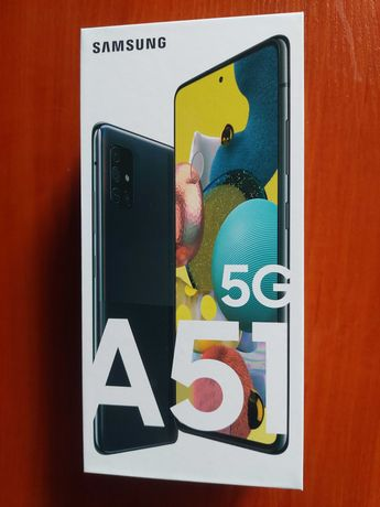 Sprzedam nowy smartfon Samsung Galaxy A 51 5G (czarny) 128/6