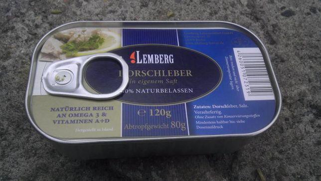 Печень трески Lemberg 120 g.