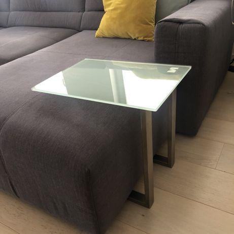 Stolik szklany szkło metal