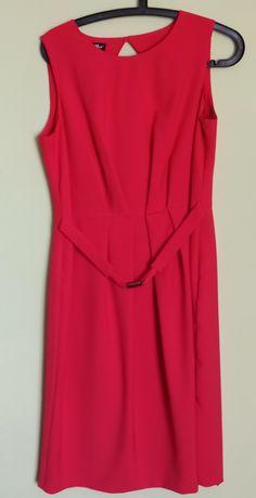 Czerwono-różowa sukienka r. 42