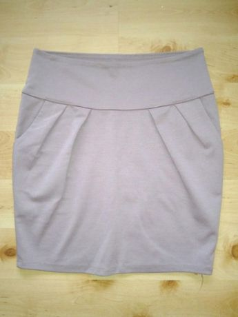 Jak nowa Spódnica ołówkowa beżowa elegancka xs 34 s 36 m 38 mini
