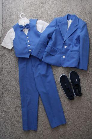 Нарядный костюм- тройка для мальчика 116-122р.