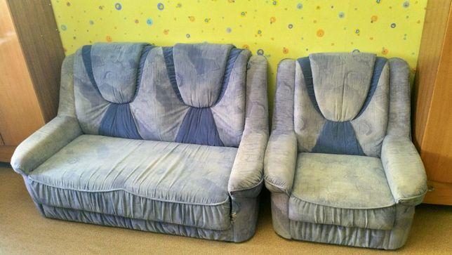 Продам диван + два кресла комплектом или отдельно.