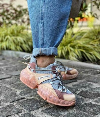Женские кроссовки Dior/Jimmy Choo Pink /Джимми Чу