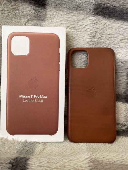 Etui Leather Case brązowy iphone 11 Pro Max. Stan idealny, oryginalne. Warszawa - image 1