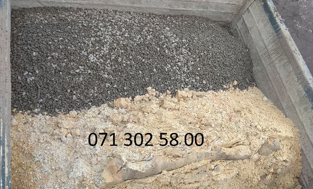 щебень+песок в зил 6т