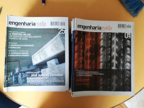 Lote 50 revistas Engenharia e Vida