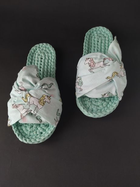 Домашние тапочки тапки для дома вязаная обувь шлепки для дома