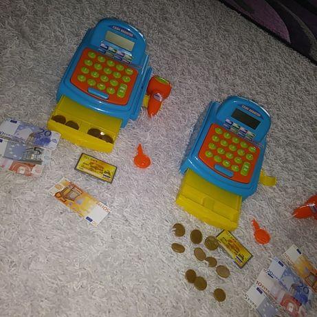 Nowa 2 kasa fiskalna,pieniążki,pieniądze,owoce,warzywa w koszyku,sklep