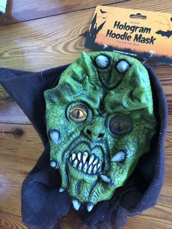 Maska Halloween realistyczny wyglad holograficzne oczy nowa