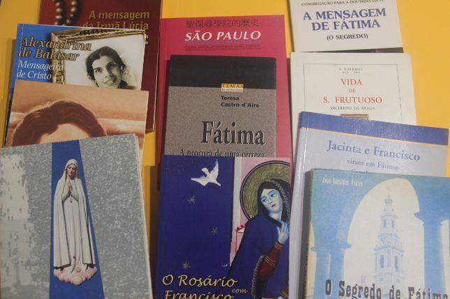 Livros sobre Nossa srª de Fátima/Alexandrina de Balasar e outros