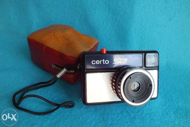 Kolekcjonerski stary aparat Certo model SL110 + pokrowiec Legenda