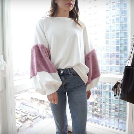 Sweatshirt Faux Fur Zara