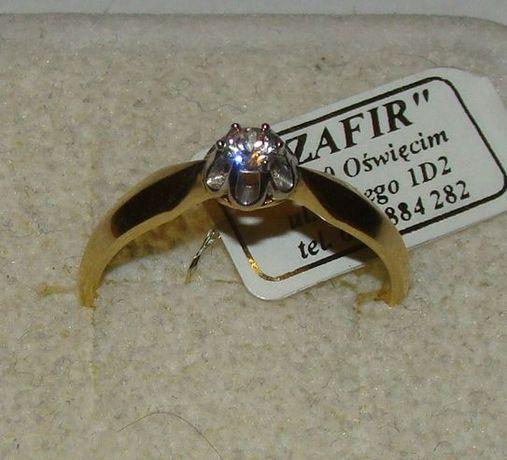 TANIO ! Złoty pierścionek próby 585 14karat-Firma Szafir-Wzór 147