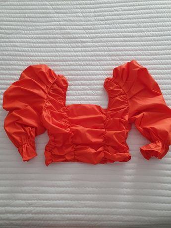 Top laranja Cropped