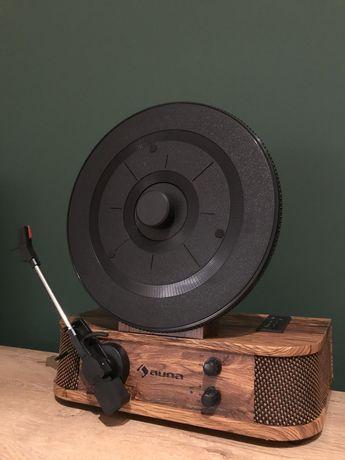 Piękny Drewniany GRAMOFON RETRO Adapter Głośniki Bluetooth USB MP3