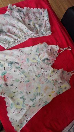 Piżama satynowa 2-częściowa S