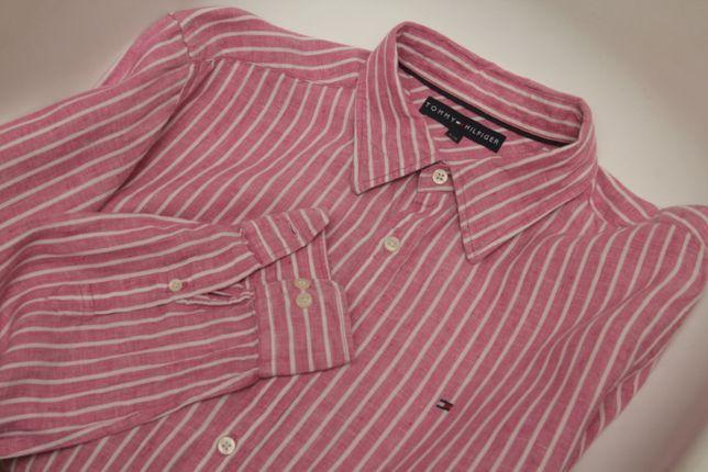Tommy Hilfiger рр L рубашка из льна