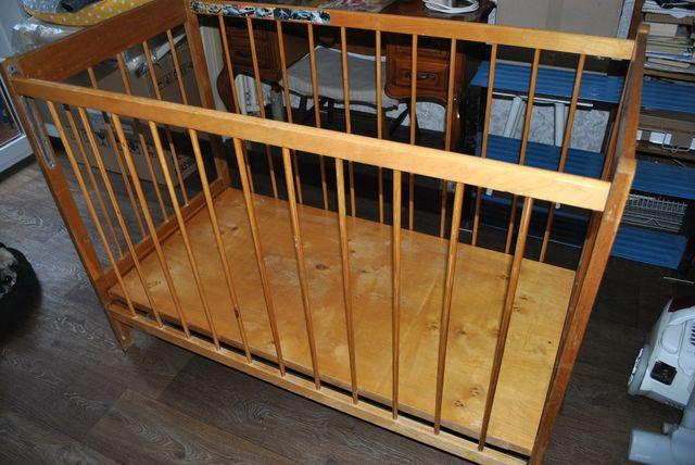 Кроватка детская деревянная кровать коричневая 2 уровня