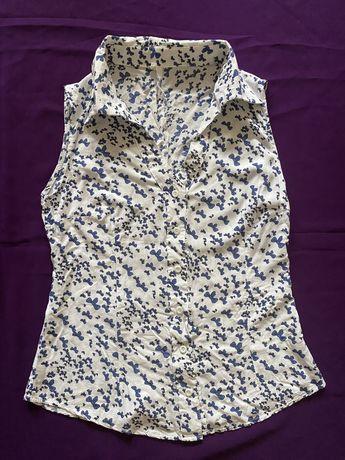 Хлопковая блуза «Бантики»