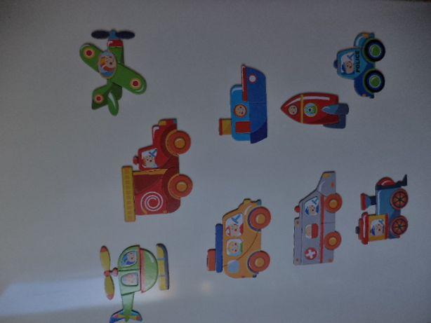 Magnesy puzzle układanka dla dzieci