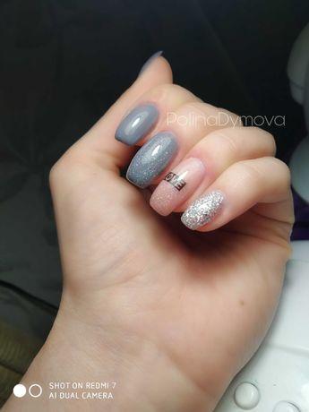 Покрытие ногтей гель-лаком , наращивание , коррекция
