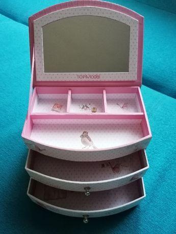 2 szkatułki na biżuterię:  TOP Model + dodatkowa szkatułka