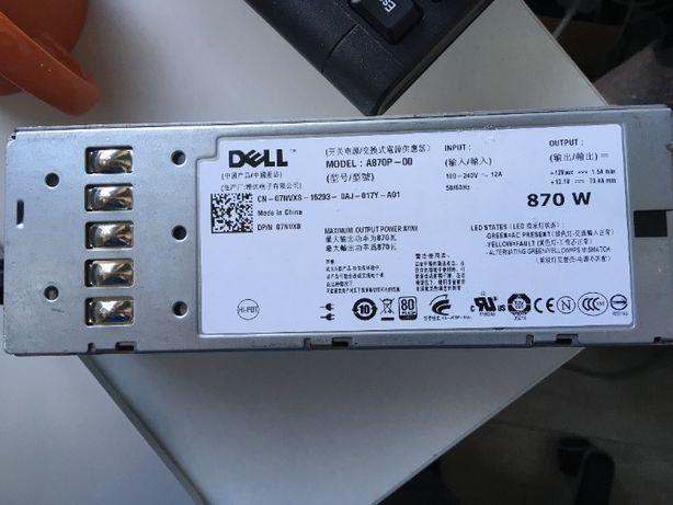 Блок питания (A870P) для Dell PowerEdge R710, T610 на 870w
